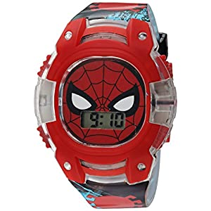 Marvel Boy's Quartz Plastic Casual Watch, Color:Black (Model: SPD4474)