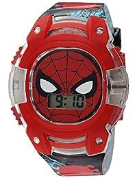 Marvel - Reloj de cuarzo para niño, de plástico, color negro (modelo: SPD4474)