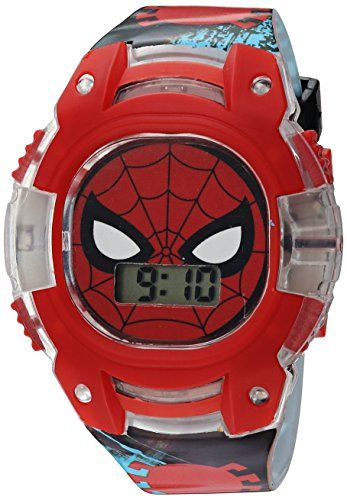 Marvel Boy's Quartz Plastic Casual Watch, Color:Black (Model: SPD4474)