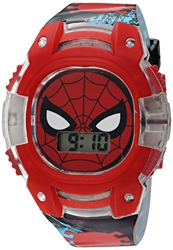 Marvel Boys' Quartz Plastic Strap, Black, 15 Casual Watch (Model: SPD4474)
