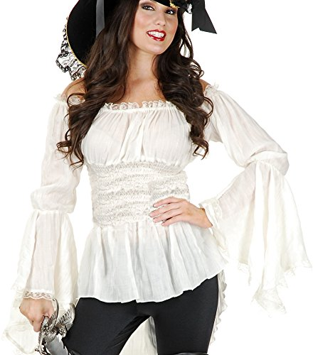 Charades Women's Pirate Lady Vixen Blouse, Natural, Small