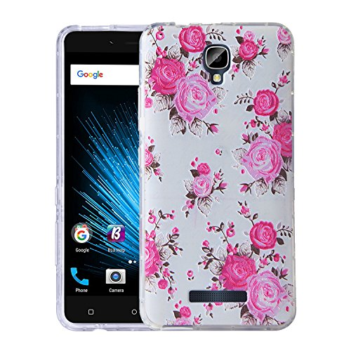 Blu Vivo XL2 Case, KTtwo [Lightweight] [Shockproof] [Scratch Resistant] [Drop Protection] Special 3D Relief Printing Pattern Design Silicone Soft TPU Cover case for BLU Vivo XL 2 (Retro Flower) (Relief Flower)