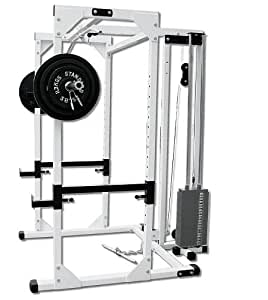 Amazon Com Deltech Fitness Pro Power Rack With Lat