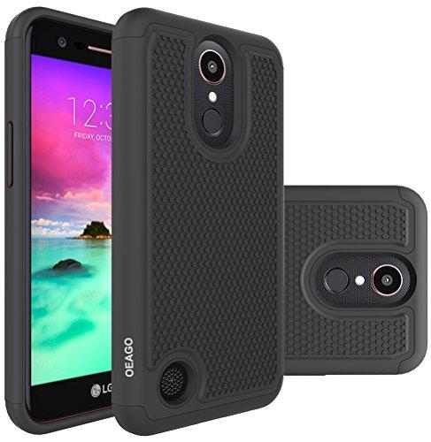 LG K20 Plus Case, LG K20 V Case, LG Harmony Case, LG Grace LTE Case, OEAGO Hybrid Dual Layer Defender Protective Case Cover for LG K20 Plus / K20 V K20V / Harmony / Grace LTE / K10 2017 - Black