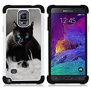 King Case - cute black cat Siamese white pet kitten - Cubierta de la caja protectora completa h???¡¯???€????€?????brido Body Armor Protecci&Atild