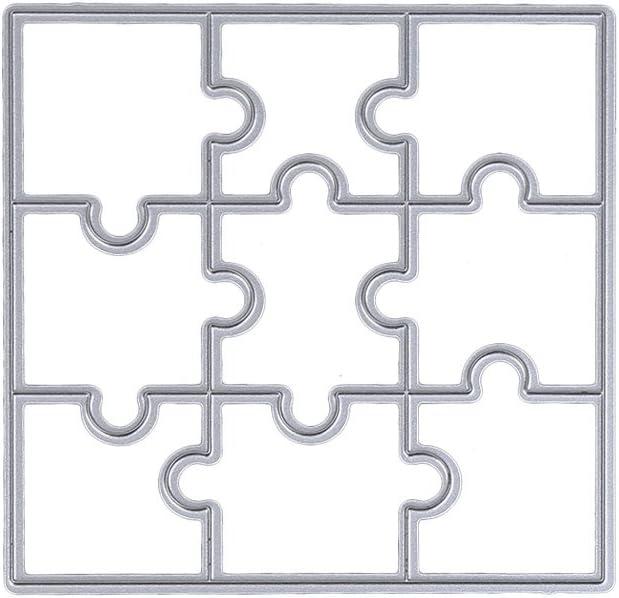 guanjunLI Puzzle Dies de decoupe Scrapbooking Matrices de d/écoupe Compatible pour Bricolage//gaufrage//ricolage D/écoupage Carr/é Stencils