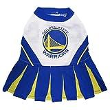 Pets First NBA Golden State Warriors Dog Cheerleader Dress, Small