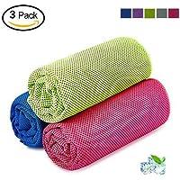 SKL Kühlendes Handtuch Kühlhandtücher Cool Towel Kühlendes Eishandtuch Kühltuch Cooling Towel Schnelltrocknende Strandhandtuch Sporthandtuch für Yoga Fitness Golf Tennis