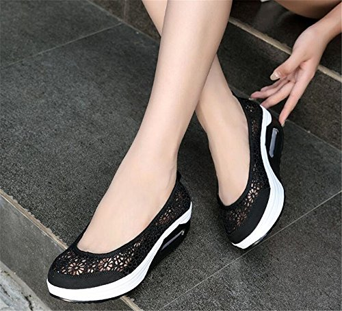 Shoes Fitness Black Ladies Sneakers Shake Sport Leather Shoes Shoes Women Running Breathable 5w8Wp8Uq