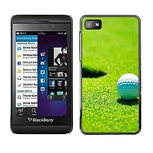 - Golf Ball Pattern - - Monedero pared Design Premium cuero del tirš®n magnšŠtico delgado del caso de la cubierta pata de ca FOR Blackberry Z10 Funny House