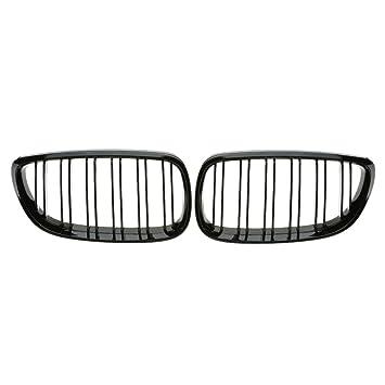 Rejillas negras para el radiador del coche, acabado brillo, de KKmoon
