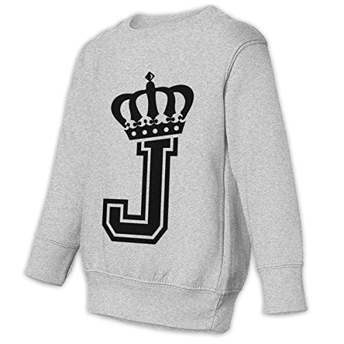 Letter J Crown Crewneck Pullover Sweatshirt for Girl's for sale  Delivered anywhere in USA