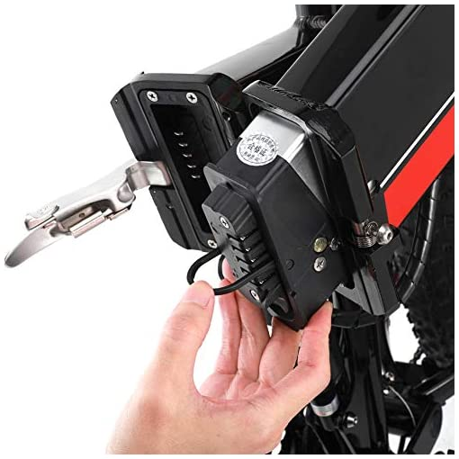 GUNAI Vélo de Montagne électrique de 1000 W, Vélo de Neige avec Pneus épais de 26 Pouces avec Batterie au Lithium Amovible de 48V 12Ah, Vitesse Shimano 21 et écran LCD