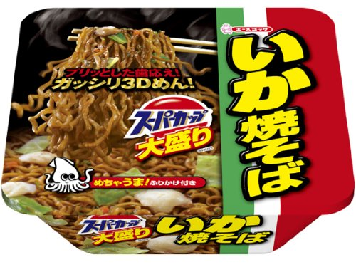 Acecook Ika Big Noodle, Instant Source Yakisoba with Squid, Pack of 12 by Acecook , Japanese food company