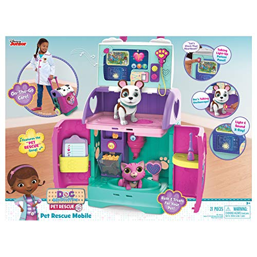 (Doc McStuffins 92446 Baby All in One Nursery Pet Rescue Mobile, Multicolor)