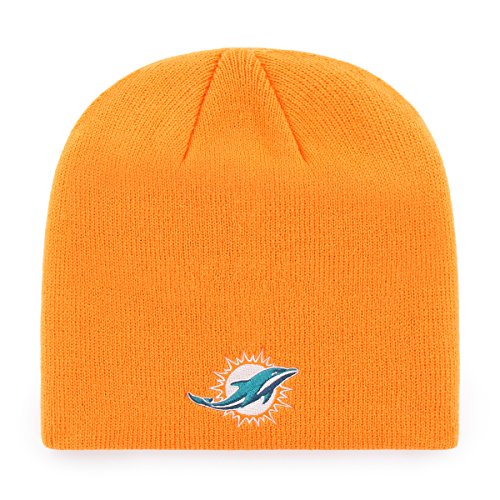 NFL Miami Dolphins OTS Beanie Knit Cap, Pylon, One Size