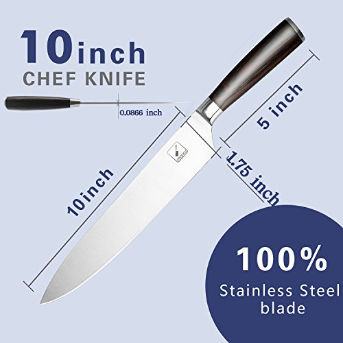 imarku 10 inch pro chef 39 s knife high carbon german steel import it all. Black Bedroom Furniture Sets. Home Design Ideas