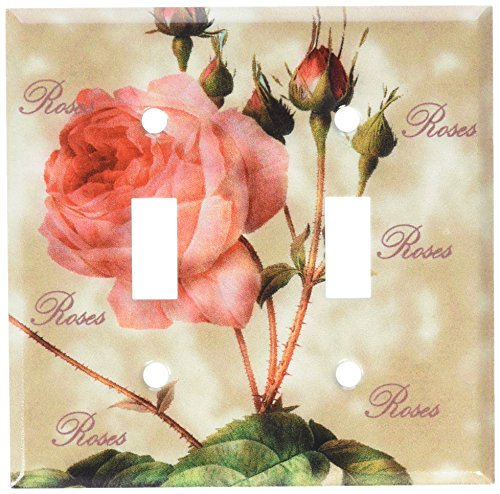 (Art Plates - Redoute Roses Switch Plate - Double Toggle)