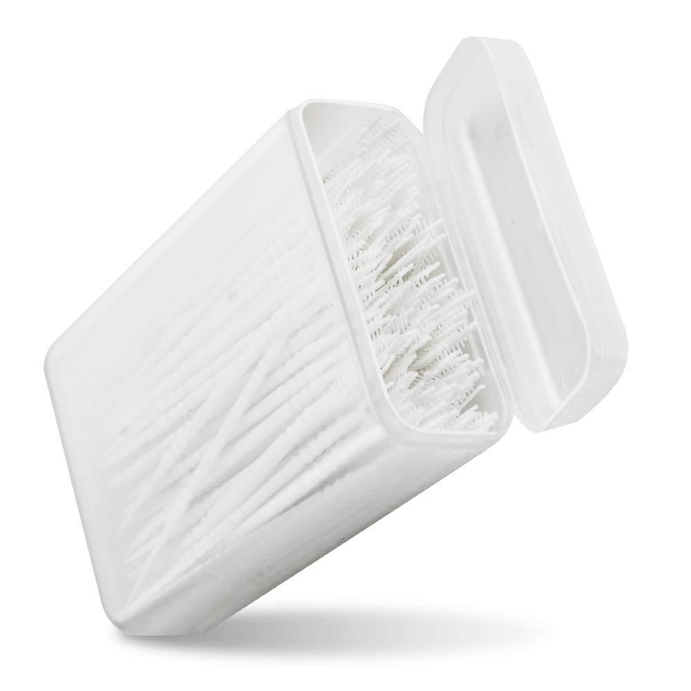 Pevor Oral Dental Picks Tooth Pick Interdental Brush with Portable Case 2 way - 150pcs
