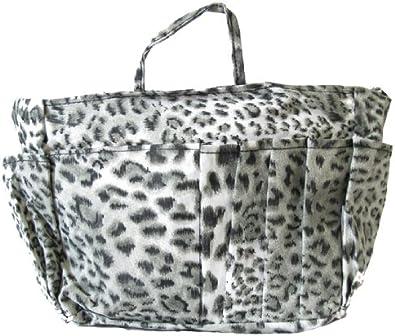 Black plaid and leopard ladies pouch