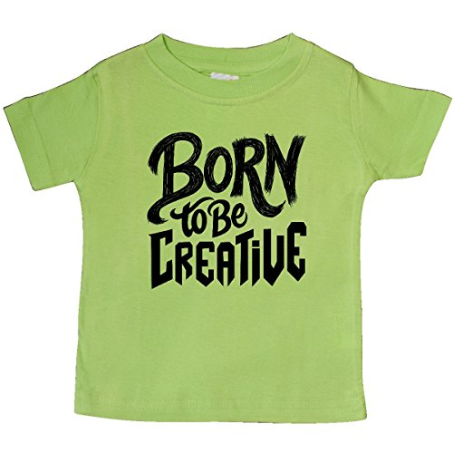 Creative Gifts Lime Green (Inktastic - Born To Be Creative Hand Lettering Baby T-Shirt 6 Months Key Lime)