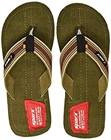 9255e9a7a Sparx Men s Camel Brown Denim Flip-Flops and House Slippers ...