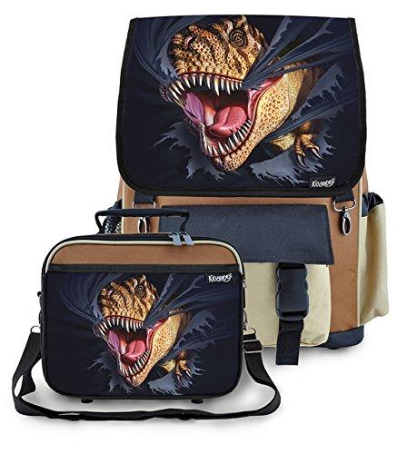 Kidaroo Tearing Dinosaur Backpack Lunchbox