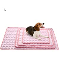 Uscyo - Alfombrilla de refrigeración para Perros y Gatos, para Regular la Temperatura Corporal, Almohadilla de enfriamiento para Animales, Rosado, L