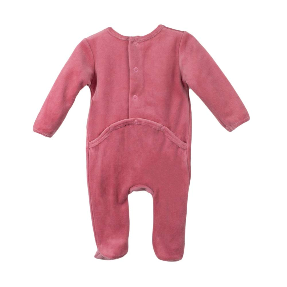 b1f73ae062e Amazon.com  Baby Clothes Bow Design Sleep N Play Footie Coverall Romper Boy  Girl Unisex Long Sleeve (Mauve Pink