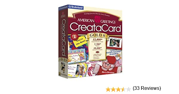 Amazon american greetings creatacard gold 8 old version m4hsunfo