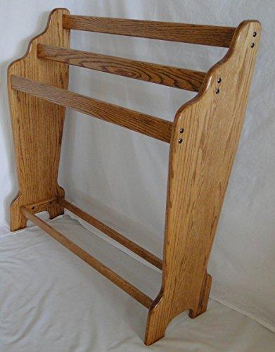 Cascade Quilt Rack -Honey Oak Stain