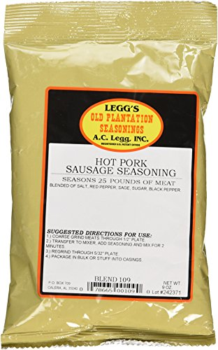 A.C. Legg INC Hot Pork Sausage Seasoning -