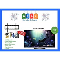 Electronics OLED65B6P Flat 65-Inch 4K Ultra HD Smart OLED TV ( 2016 MODEL ) + Holiday gift bundle !!! ( includes 7 pc wallmount and cables pack )