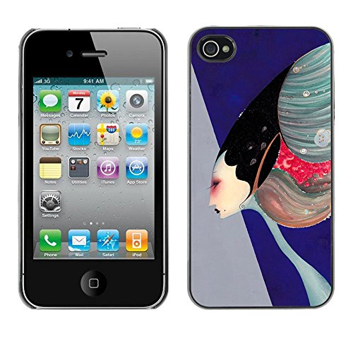 ( abstract high fashion art painting ) APPLE iPhone 4 / 4S Hard Printing Protective Cover Protector Sleeve Shell Case Cover