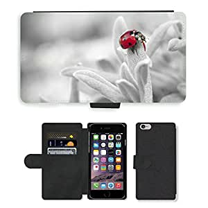 """PU LEATHER case coque housse smartphone Flip bag Cover protection // M00114783 Mariquita Insecto Naturaleza // Apple iPhone 6 4.7"""""""