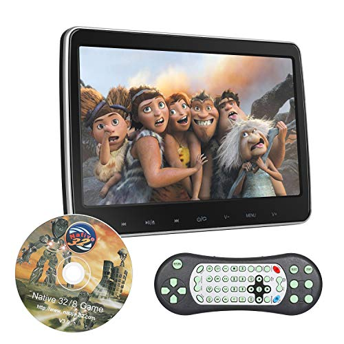 10.1 inch Headrest DVD Player Car Back Seat Video TV Monitor for Kids, 1080P HD, Support FM/IR/HDMI in