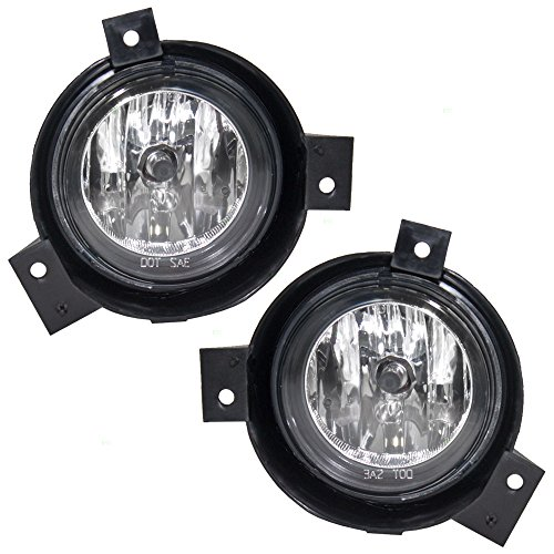 Driver and Passenger Fog Lights Lamps with Brackets Replacement for Ford Pickup Truck 1L5Z15200DA 1L5Z15200CA - Ford Ranger Fog Lamps