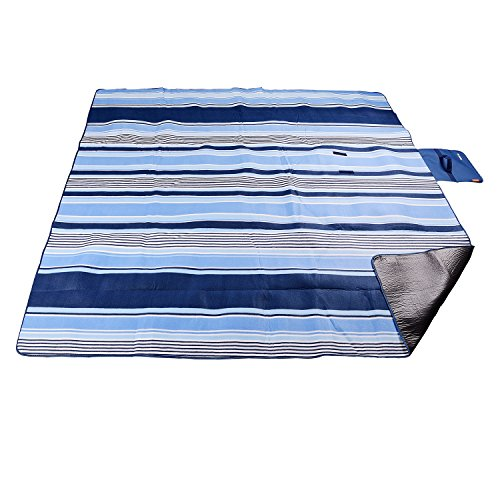 XXL-Large Outdoor Picnic Blanket,Waterproof Backing 200 x 200cm Oversized Soft Fleece Material Camping Tote (Soft Fleece Material)