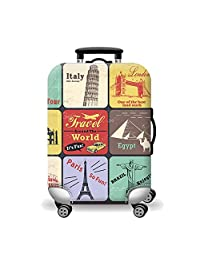 Artone World Landmark Washable Spandex Travel Luggage Protector Baggage Suitcase Cover Fit 18-20 Inch Luggage