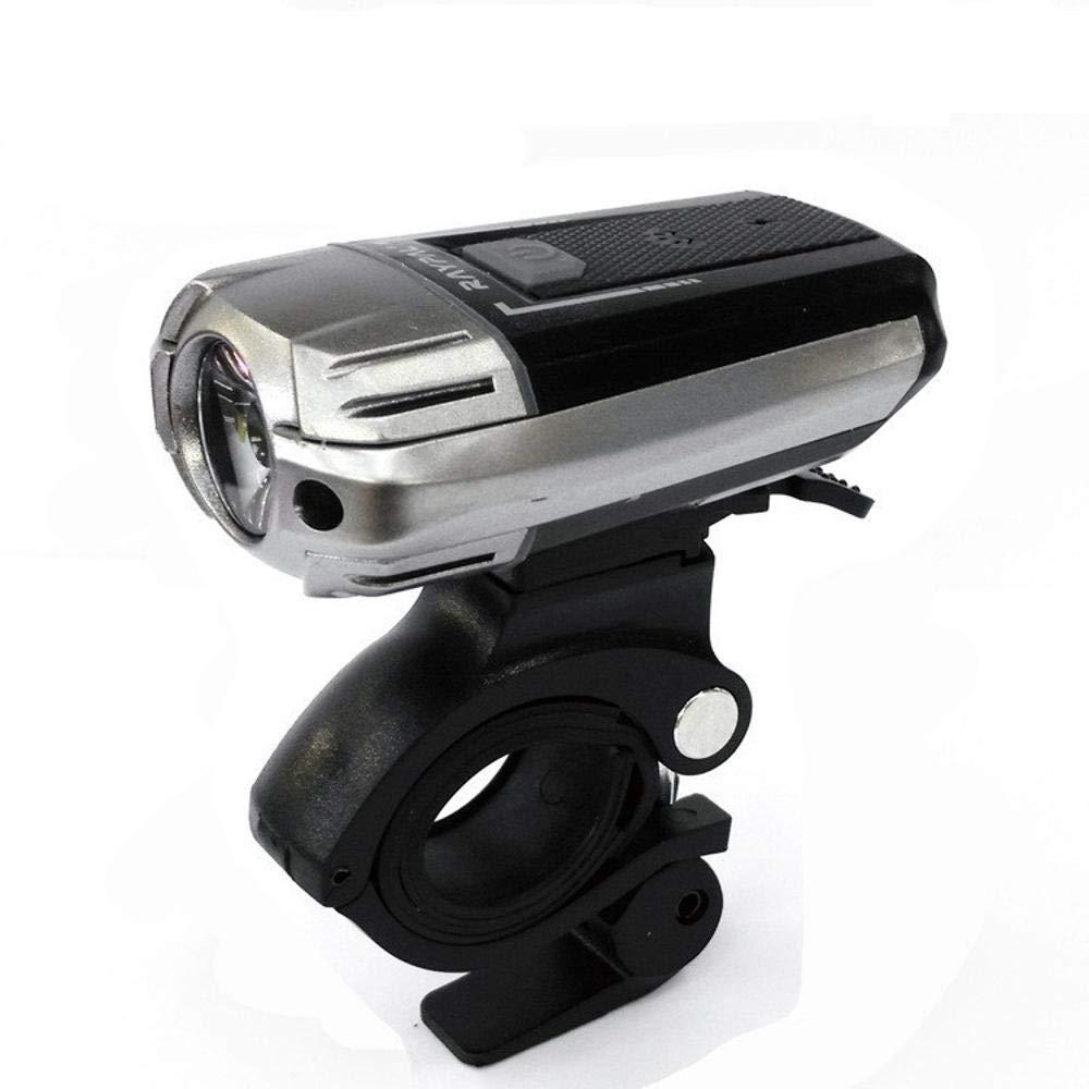 Kaxima Luces Bicicleta Noche de luz de Linterna USB Cargador Fuerte luz en Accesorios Equipo montaña Bicicleta luz Delantera