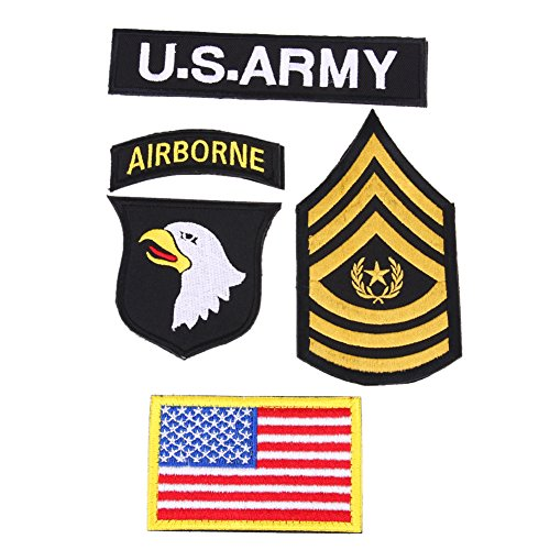 brightric 4pcs/Set Outdoor 101 Airborne U.S. Army American Embroidered Morale Patch