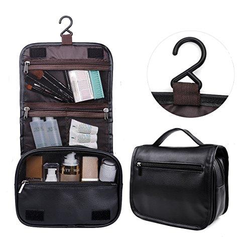 Toiletry Bag,Hanging Toiletry Bag,Happy David Makeup Bags Travel Kit with Several Zipper Pockets(HD002,Black)