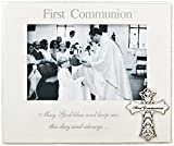 Fashioncraft 12176 First Communion 6 X 4 Frame with Ornate Metal Cross