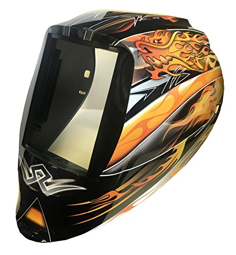 ArcOne 3-1533 Vision Welding Helmet for 5 x 4-Inch Passive/Singles/XT/Xtreme Filters, Dragon Fire