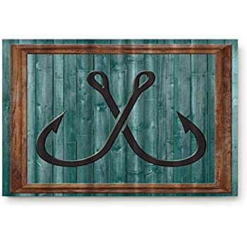 "17/"" X 28/"" DOOR MAT DOOR MATS GONE FISHING DOORMAT LAKE HOUSE DECOR"