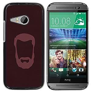 GIFT CHOICE / SmartPhone Carcasa Teléfono móvil Funda de protección Duro Caso Case para HTC ONE MINI 2 / M8 MINI /BEARDED GENTLEMAN/