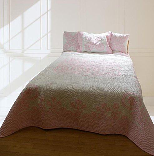 (ラナイブルー) ハワイアンキルト 本格手縫 マルチカバー ベッドカバー ベッドスプレッド Lサイズ B07F63RSSN