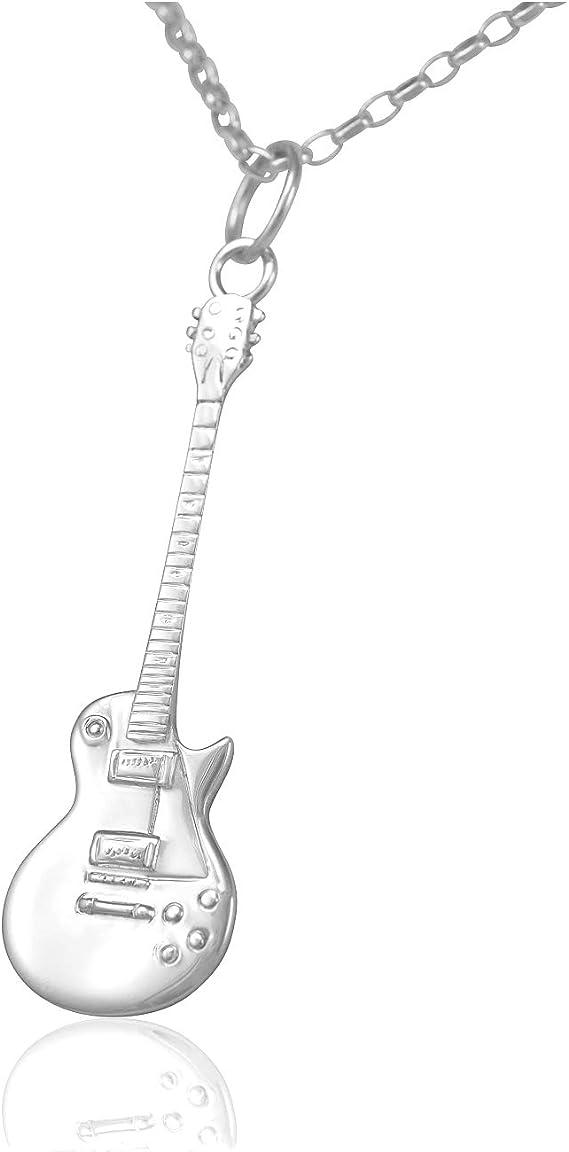 Colgante de guitarra eléctrica Gibson Les Paul de plata de ley ...