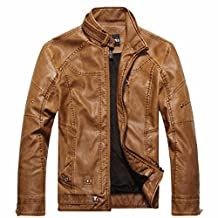 Men's Leather coat autumn and winter leather coat European and American fashion leather jacket men's jacket-YU&XIN
