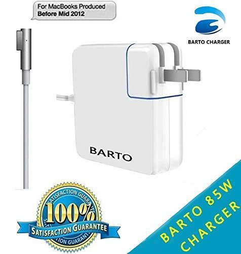 BARTO Macbook pro charger 85w Magsafe Power Adapter for Macbook Air Pro-13/15/17 in-retina display-L-Tip. (Apple Retina Power Adapter)